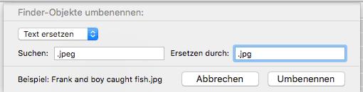 OS X Dateien umbenennen Screenshot 2