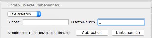OS X Dateien umbenennen Screenshot 3
