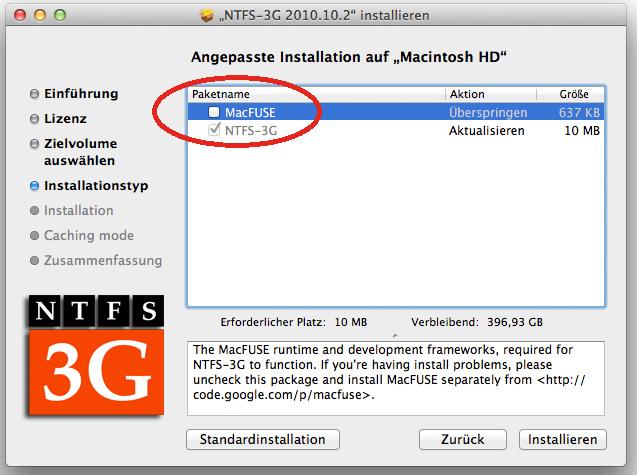 Installation NTFS-3G