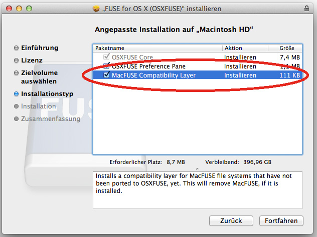 Installation OSX FUSE