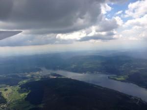 Mit dem Segelflugzeug über dem Schluchsee