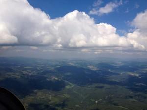 Mit dem Segelflugzeug über dem Schwarzwald