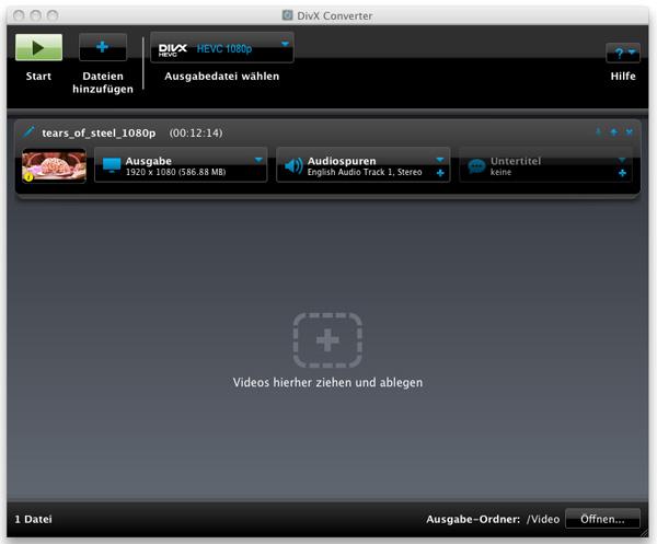 Screenshot DivX Converter