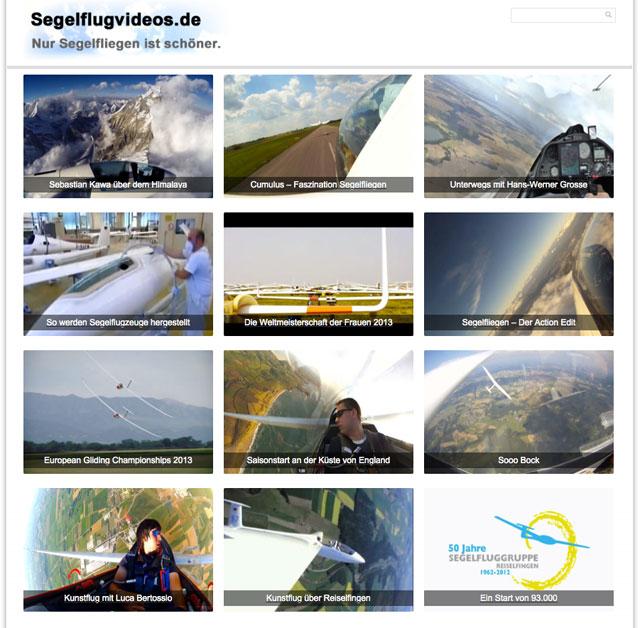 Screenshor Segelflugvideos.de