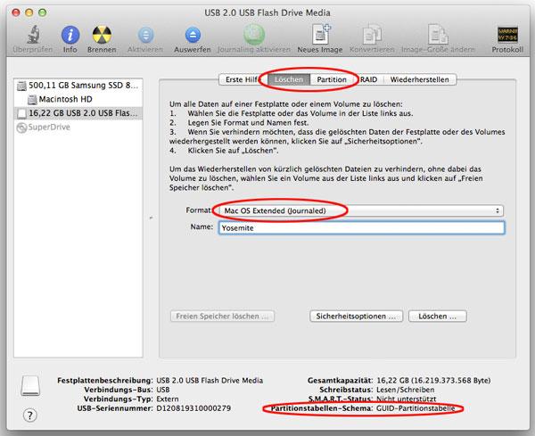 Screenshot Festplattendienstprogramm