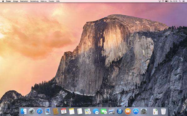 Screenshot OS X 10.10 Yosemite