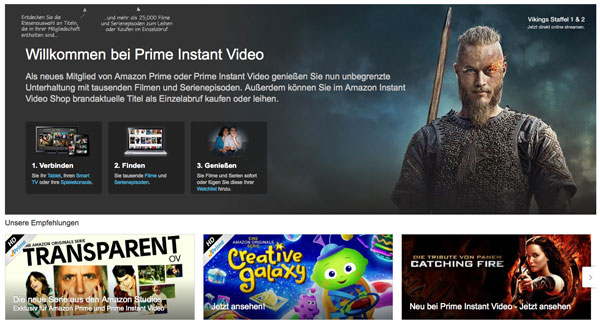 Amazon Instant Video im 30 Tage Gratis Test - JKdigital