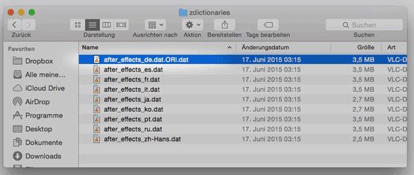 Screenshot AE CC 2015 in Englisch öffnen
