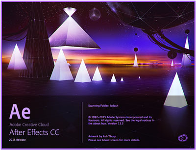 Begrüßungsbildschirm After Effects CC 2015 englisch