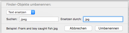 OS X Dateien umbenennen Screenshot 2