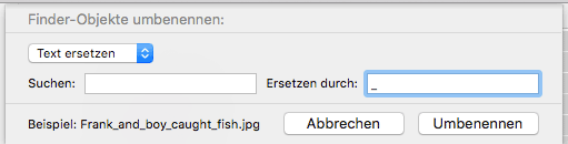 OS X Dateien umbenennen Screenshot 3
