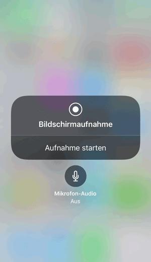 iOS Bildschirmaufnahme 3D Touch