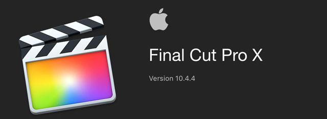 Screenshot FCPX 10.4.4