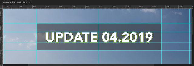 Screenshot neues Premiere Update mit Hilfslinien im Programmfester