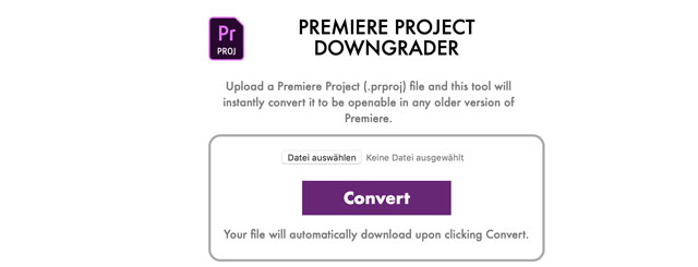 Screenshot Premiere Project Downgrader